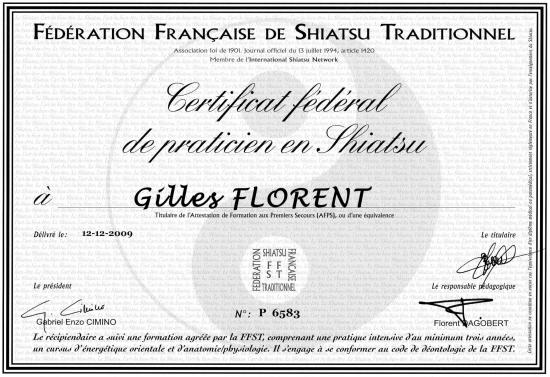Diplome praticien shiatsu